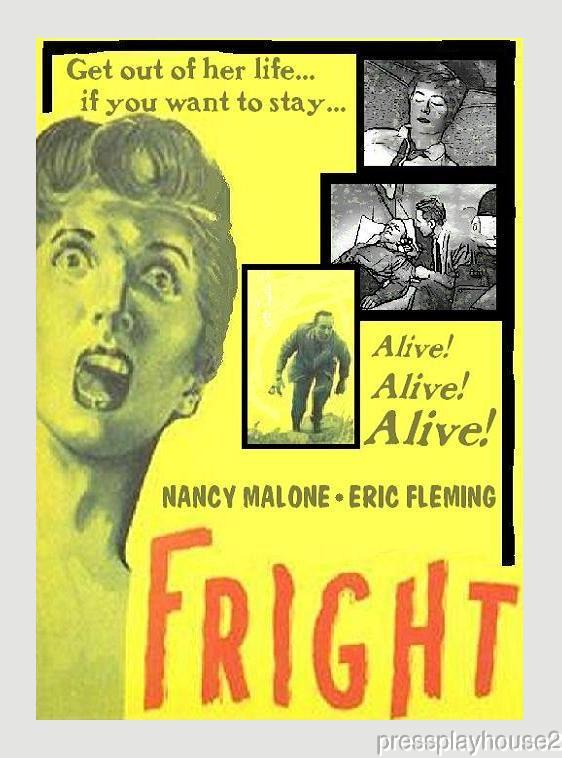Fright: DVD, 1956, Nancy Malone, Eric Fleming, Rare Horror Reincarnation Melodrama product photo