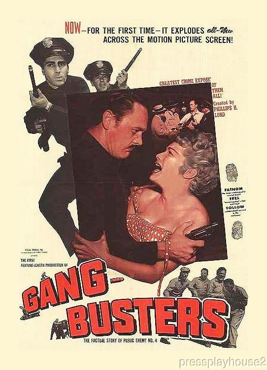Gangbusters: DVD, 1955, Myron Healy, Joyce Jameson, Rare 50s Crime Classic product photo