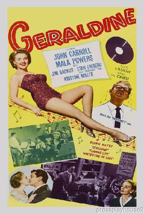 Geraldine: DVD, 1953, Mala Powers, Stan Freberg, Percy Helton, Carolyn Jones, Hilarious Oddball Musical Comedy product photo