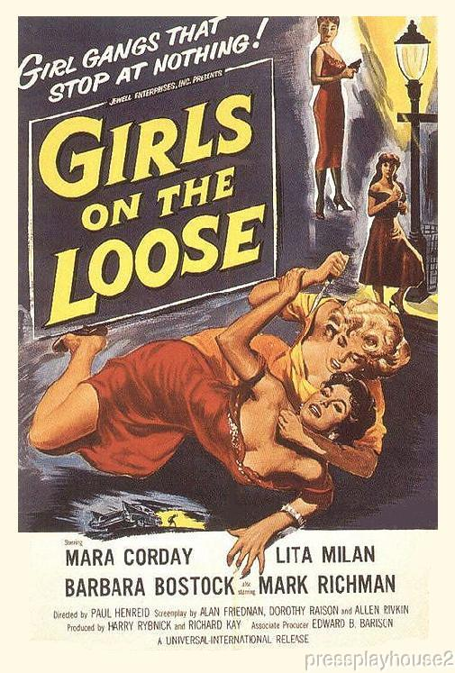 Girls On The Loose: DVD, 1958, Mara Corday, Lita Milan, Rarely Seen Girl Gang Classic! product photo