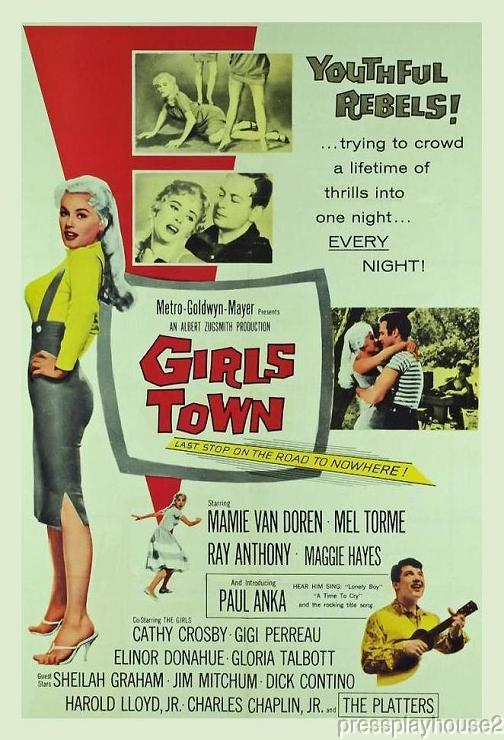 Girls Town: DVD, 1959, Mamie Van Doren, Paul Anka, Mel Torme, Wild Teen Classic! product photo