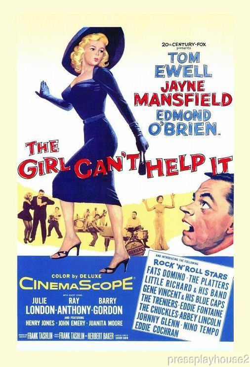 The Girl Can't Help It: DVD, 1956, Jayne Mansfield, Tom Ewell, Julie London,Little Richard, Gene Vincent, Eddie Cochran, Widescreen product photo