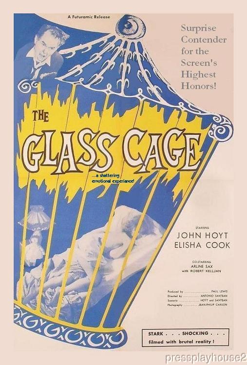 The Glass Cage: DVD, 1964, Arline Sax, Elisha Cook, John Hoyt, Creepy Psycho Rarity product photo