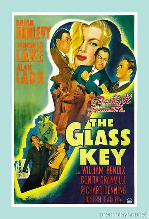 The Glass Key: DVD, 1942, Alan Ladd, Veronica Lake, Brian Donlevy, William Bendix product photo