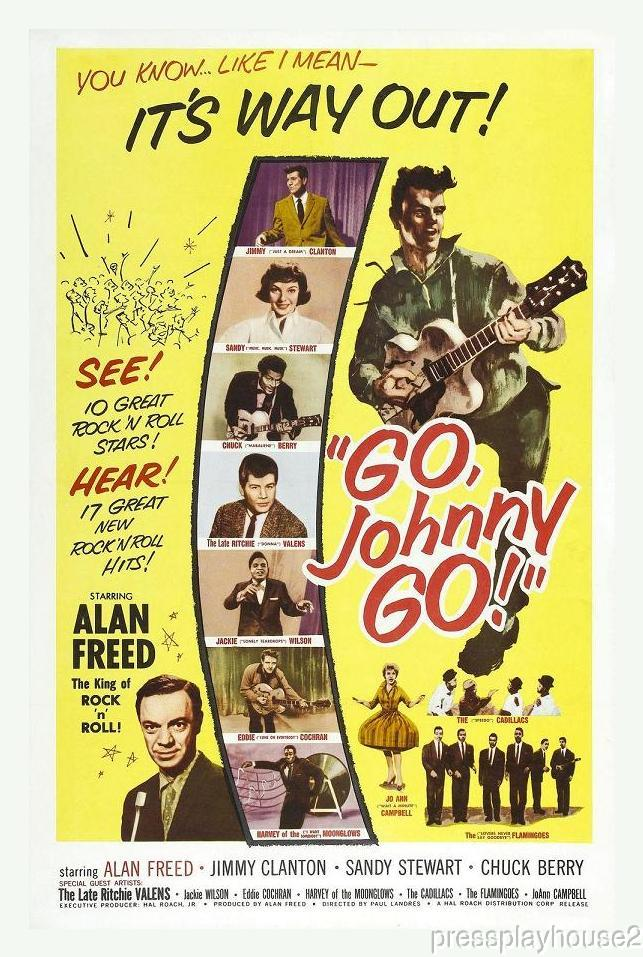 Go Johnny Go! DVD, 1959, Chuck Berry, Jimmy Clanton, Eddie Cochran, Ritchie Valens, Alan Freed, 50s Rock & Roll product photo