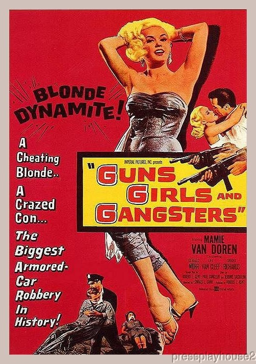 Guns, Girls and Gangsters DVD, 1959, Mamie Van Doren, Gerald Mohr, Great Low Budget 50s Crime product photo