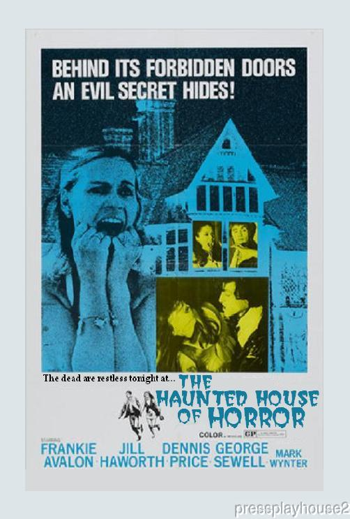 The Haunted House of Horror: DVD, 1969, Frankie Avalon, Jill Hayworth, Rarely Seen UK Horror Thriller product photo