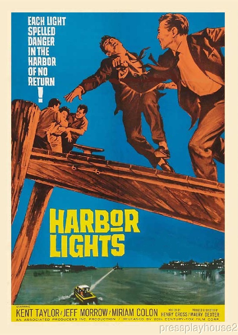 Harbor Lights: DVD, 1963, Kent Taylor, Miriam Colon, Jeff Morrow, Little Known Crime Mystery! product photo
