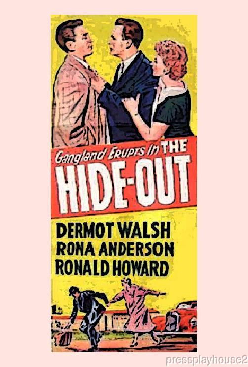 The Hideout: DVD, 1956, Dermot Walsh, Rona Anderson, Ronald Howard, UK Crime Thriller product photo