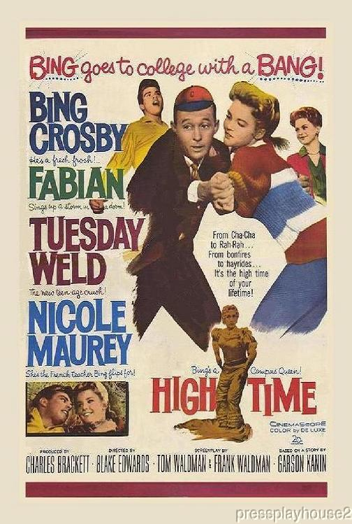 High Time: DVD, 1960, Bing Crosby, Fabian, Tuesday Weld, Yvonne Craig, Gavin Macleod, Superb Comedy Classic product photo