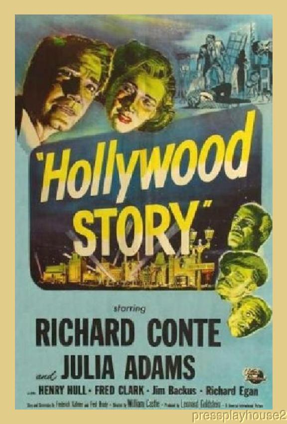 Hollywood Story: DVD, 1951, Richard Conte, Julie Adams, Jim Backus, Richard Egan product photo
