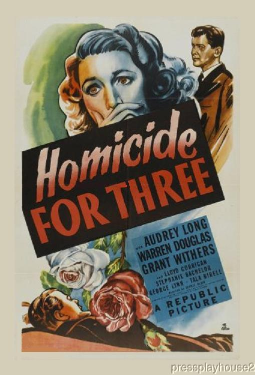 Homicide For Three: DVD, 1948, Audrey Long, Obscure 40s Crime Film product photo