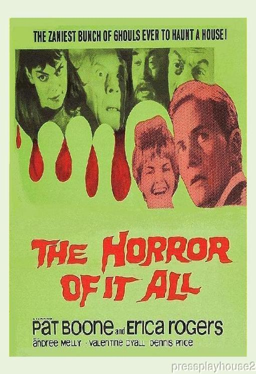 The Horror of It All: DVD, 1964, Pat Boone, Erica Rogers, Dennis Price, Rare UK Dark Comedy, Widescreen product photo