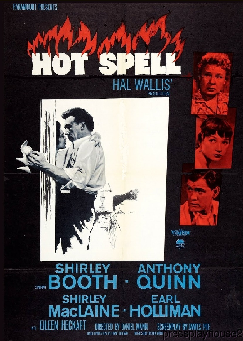 Hot Spell: DVD, 1958, Shirley Booth, Anthony Quinn, Shirley Maclaine, Earl Holliman, Melodrama Blockbuster product photo