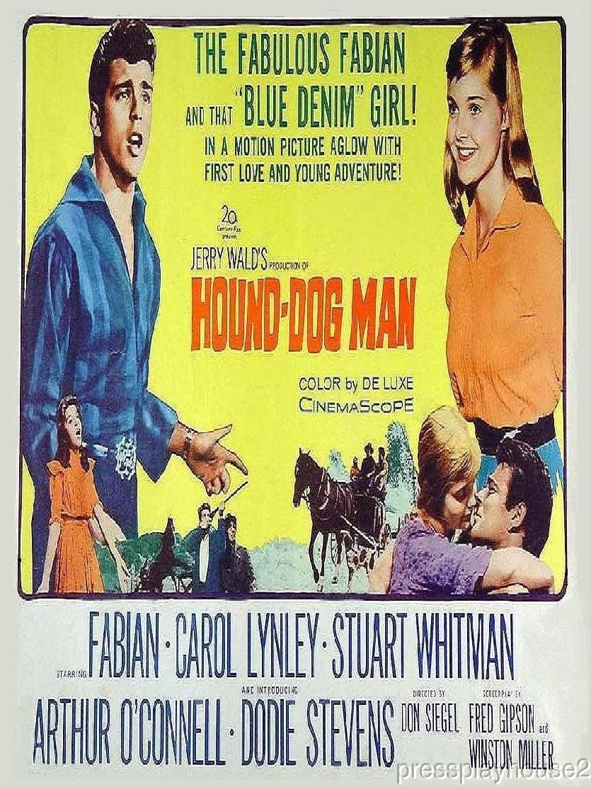 Hound Dog Man: DVD, 1959, Fabian, Carol Lynley, Stuart Whitman, Rarely Seen 50s Teen Western product photo