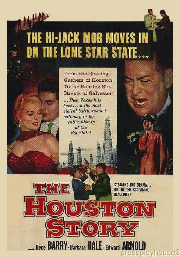 The Houston Story: DVD, 1956, Gene Barry, Barbara Hale, Jeanne Cooper, Widescreen product photo