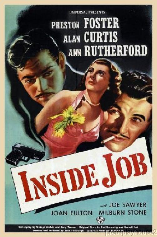 Inside Job: DVD, 1946, Preston S. Foster, Milburn Stone, Rarely Seen Film Noir, Qualty Upgrade! product photo