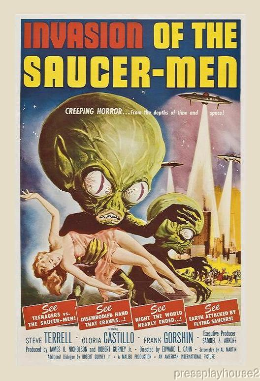 Invasion of The Saucer Men: DVD, 1957, Frank Gorshin, The Supreme Sci, Fi Comedy Gem! product photo