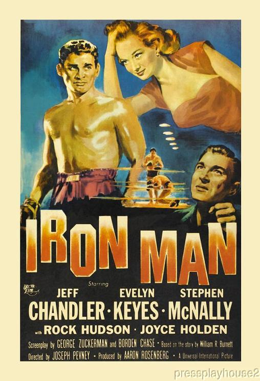 Iron Man: DVD, 1951, Jeff Chandler, Evelyn Keyes, Rock Hudson, James Arness product photo