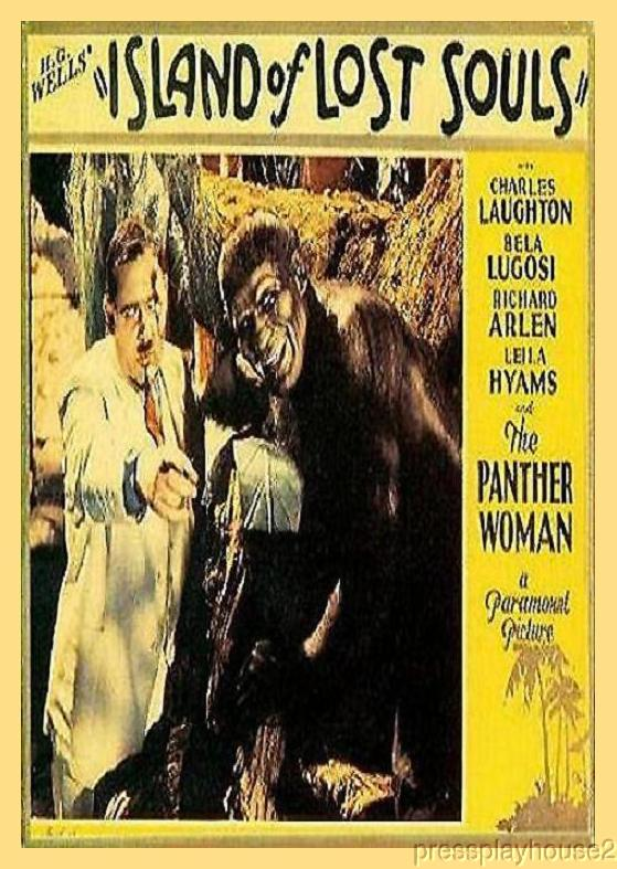 Island of Lost Souls: DVD, 1933, Charles Laughton, Bela Lugosi, Top Vintage Classic Horror!! product photo