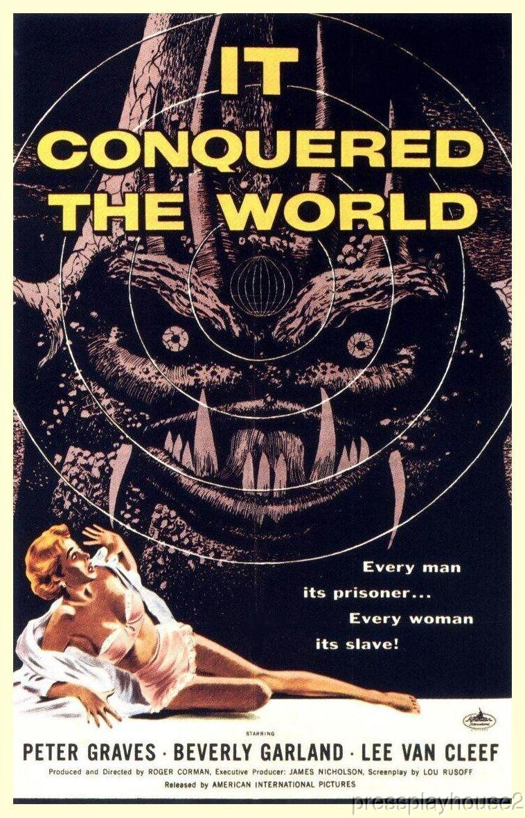 It Conquered The World: DVD, 1956, Peter Graves, Beverly Garland, Lee Van Cleef, One of The Best 50s Cult Classics product photo