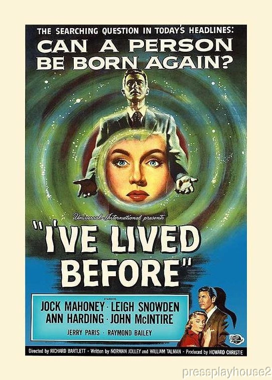 I've Lived Before: DVD, 1956, Jock Mahoney, Leigh Snowden, Rare 50s Reincarnation Gem product photo