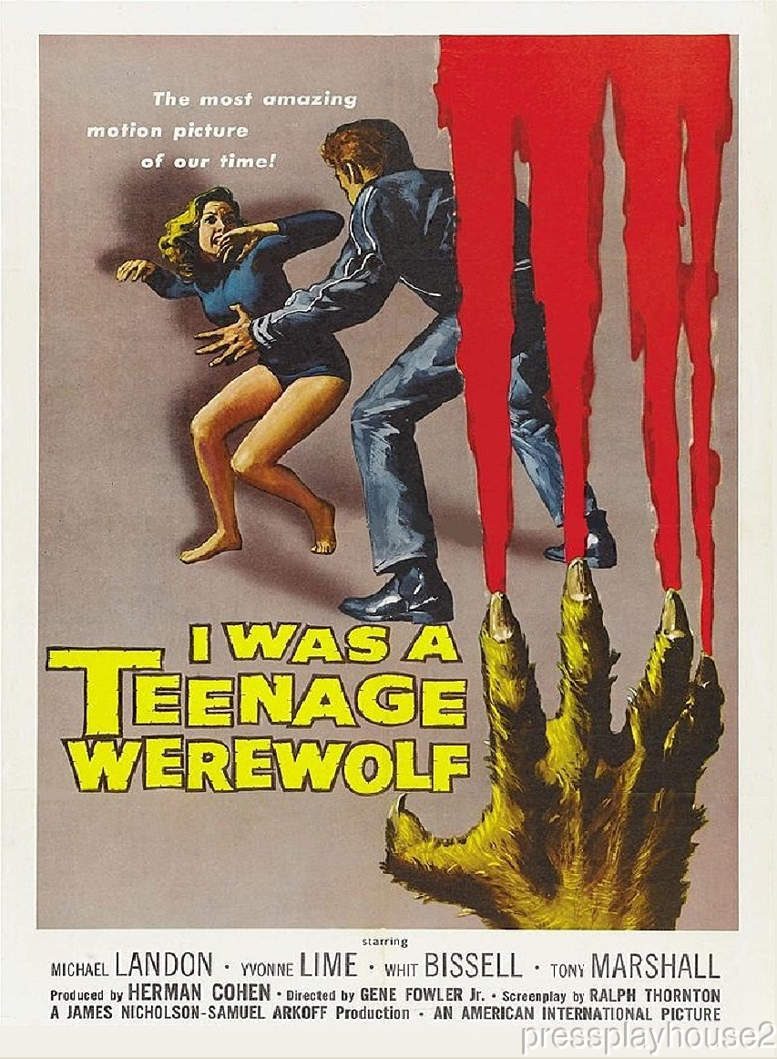 I Was A Teenage Werewolf: DVD, 1957, Michael Landon, The Classic 50s Cult Horror Gem! product photo