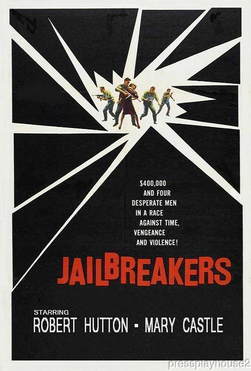 The Jailbreakers: DVD, 1960, Robert Hutton, Little Known Psycho Crime Film!! product photo