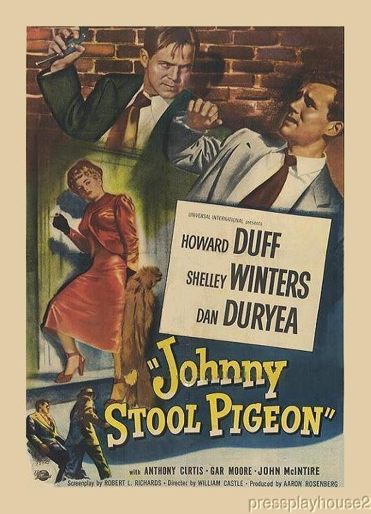 Johnny Stool Pigeon: DVD, 1949, Howard Duff, Dan Duryea, Shelley Winters, Tony Curtis, Rare Film Noir Powerhouse, Quality Upgrade! product photo