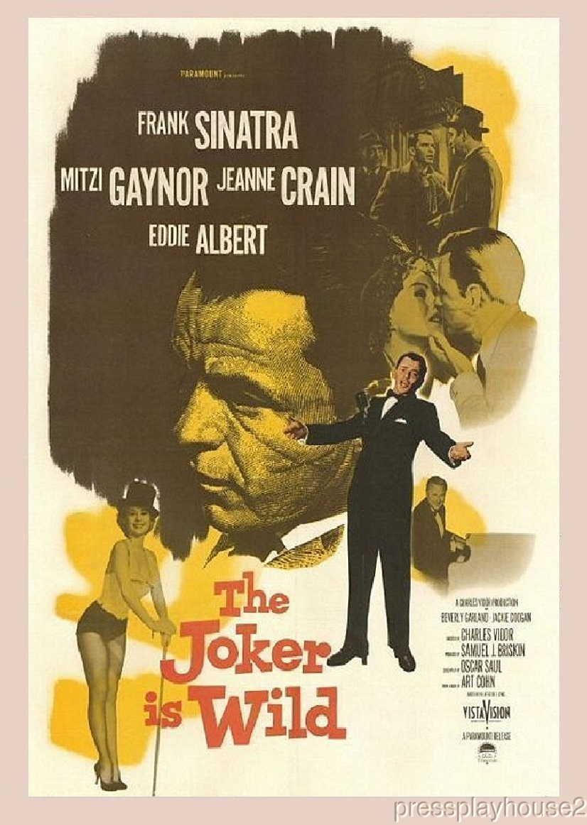 The Joker Is Wild: DVD, 1957, Frank Sinatra, Jeanne Crain, Mitzi Gaynor, Classic Sinatra! product photo