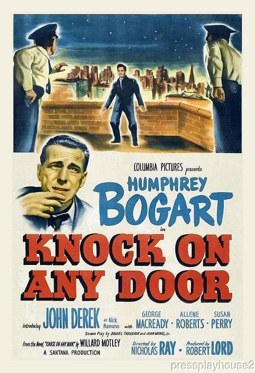 Knock On Any Door: DVD, 1949, Humphrey Bogart, John Derek, Mickey Knox, Top Film Noir Crime product photo
