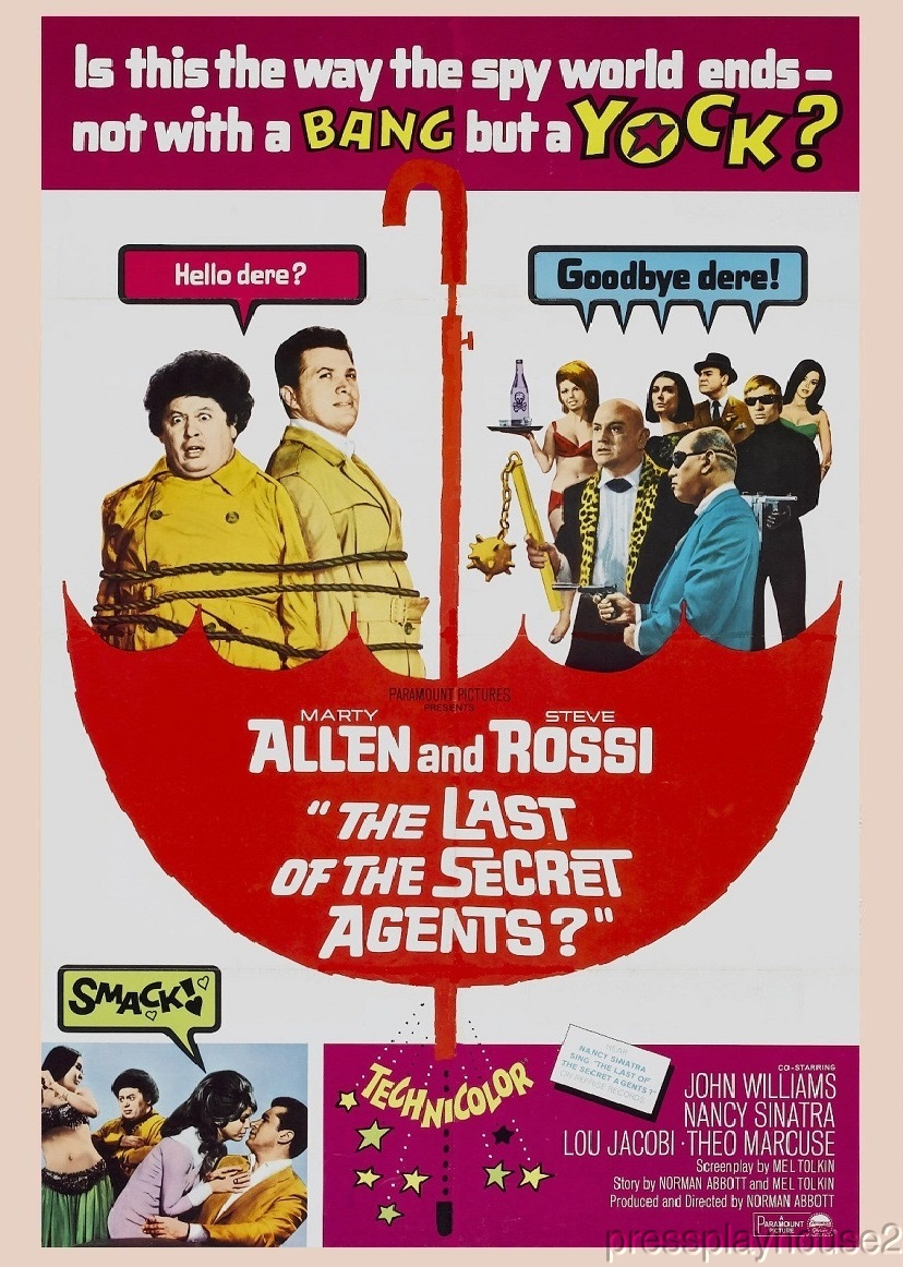 The Last of The Secret Agents: DVD, 1966, Nancy Sinatra, Marty Allen, Steve Rossi, Rarely Seen Spy Spoof product photo