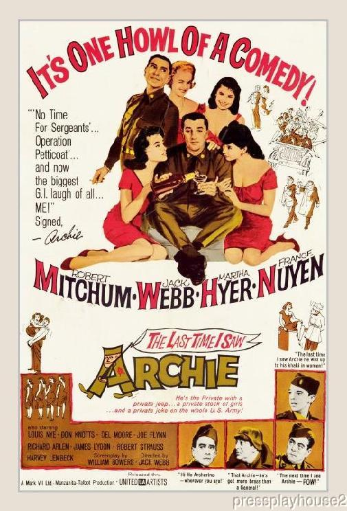 The Last Time I Saw Archie: DVD, 1961, Robert Mitchum, Jack Webb, Don Knotts, Widescreen product photo