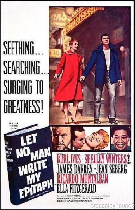 Let No Man Write My Epitaph: DVD, 1960, James Darren, Shelley Winters, Burl Ives, Ricardo Montalban, Drug Ring Crime Melodrama product photo
