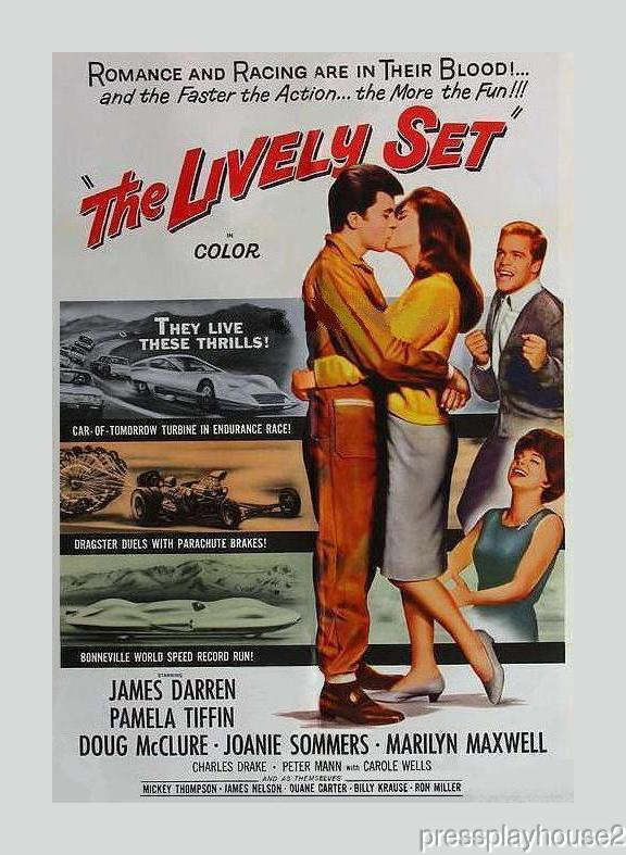 The Lively Set: DVD, 1964, James Darren, Pamela Tiffin, Doug McClure, Marilyn Maxwell, Race Car Action, Music By Bobby Darin product photo