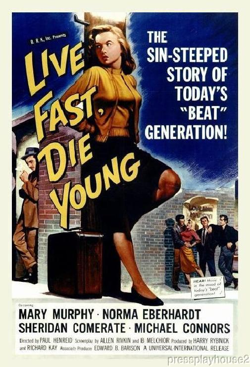 Live Fast Die Young: DVD, 1958, Troy Donahue, Mike Connors, Dorothy Provine, Rare JD! product photo