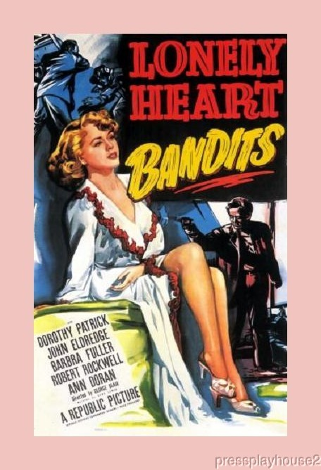 Lonely Heart Bandits: DVD, 1950, Dorothy Patrick, William Schallert, Obscure 50s Crime product photo