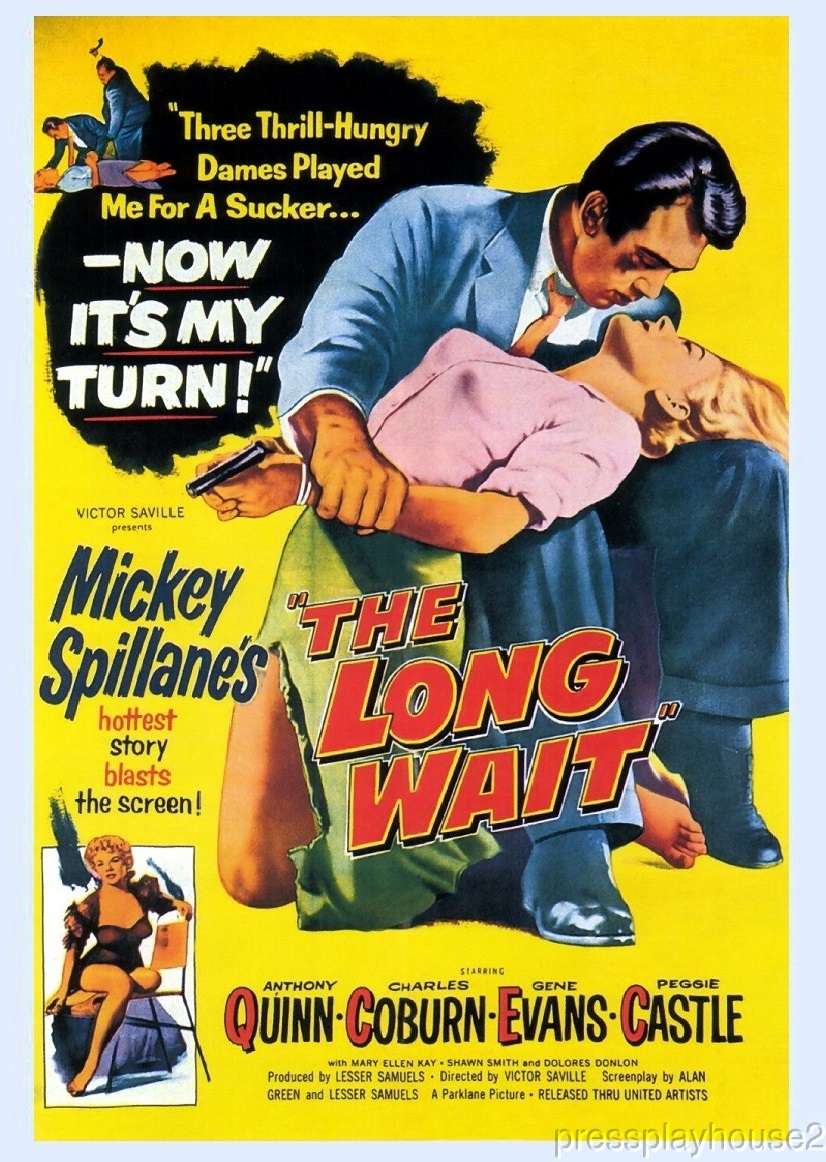 The Long Wait: DVD, 1954, Anthony Quinn, Peggie Castle, Gene Evans, Charles Coburn, Hard-To-Find Film Noir product photo