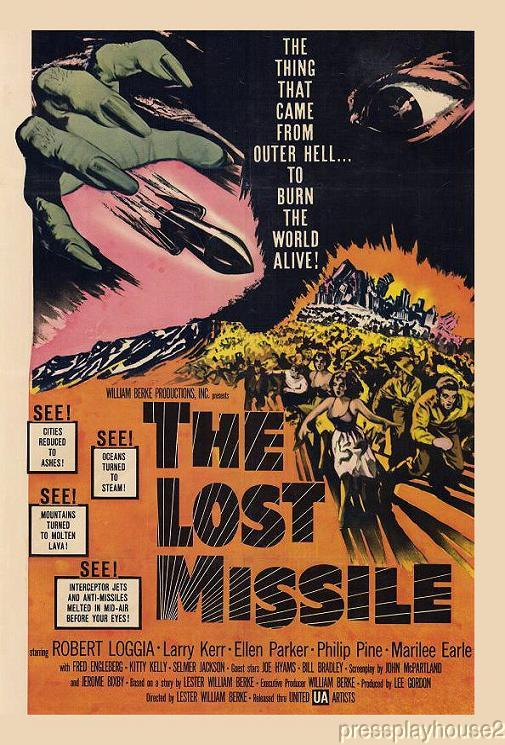 The Lost Missile: DVD, 1958, Robert Loggia, Phillip Pine, Rare 50s Sci-Fi product photo