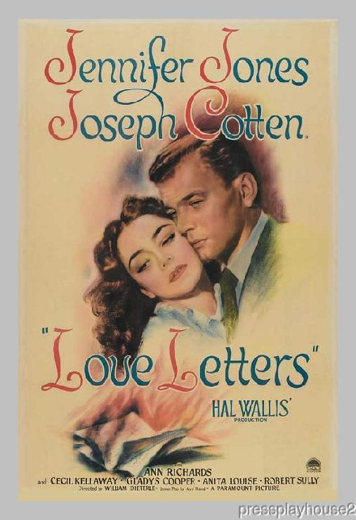 Love Letters: DVD, 1945, Joseph Cotten, Jennifer Jones, Solid Melodrama Blockbuster! product photo