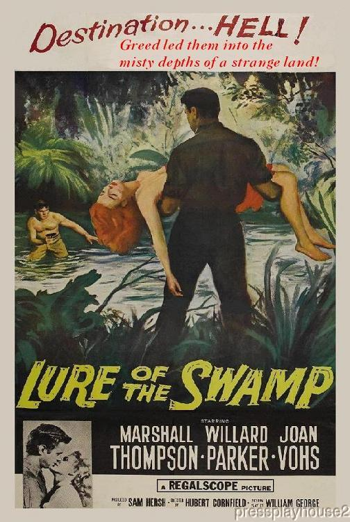Lure of The Swamp: DVD, 1957, Marshall Thompson, Joan Vohs, Jack Elam, Leo Gordon, Scarce Bayou Crime Adventure product photo
