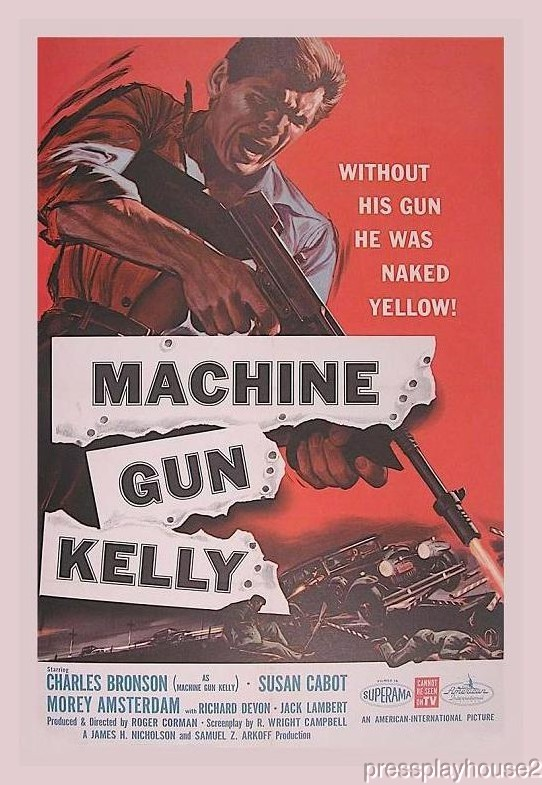 Machine Gun Kelly: DVD, 1958, Charles Bronson, Susan Cabot, Morey Amsterdam, Entertaining Crime Biography! product photo