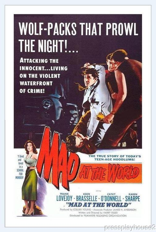 Mad At The World: DVD, 1955, Frank Lovejoy, Joe Besser, Must See JD, With Be Bop Jazz Score, Extremely Rare!! product photo