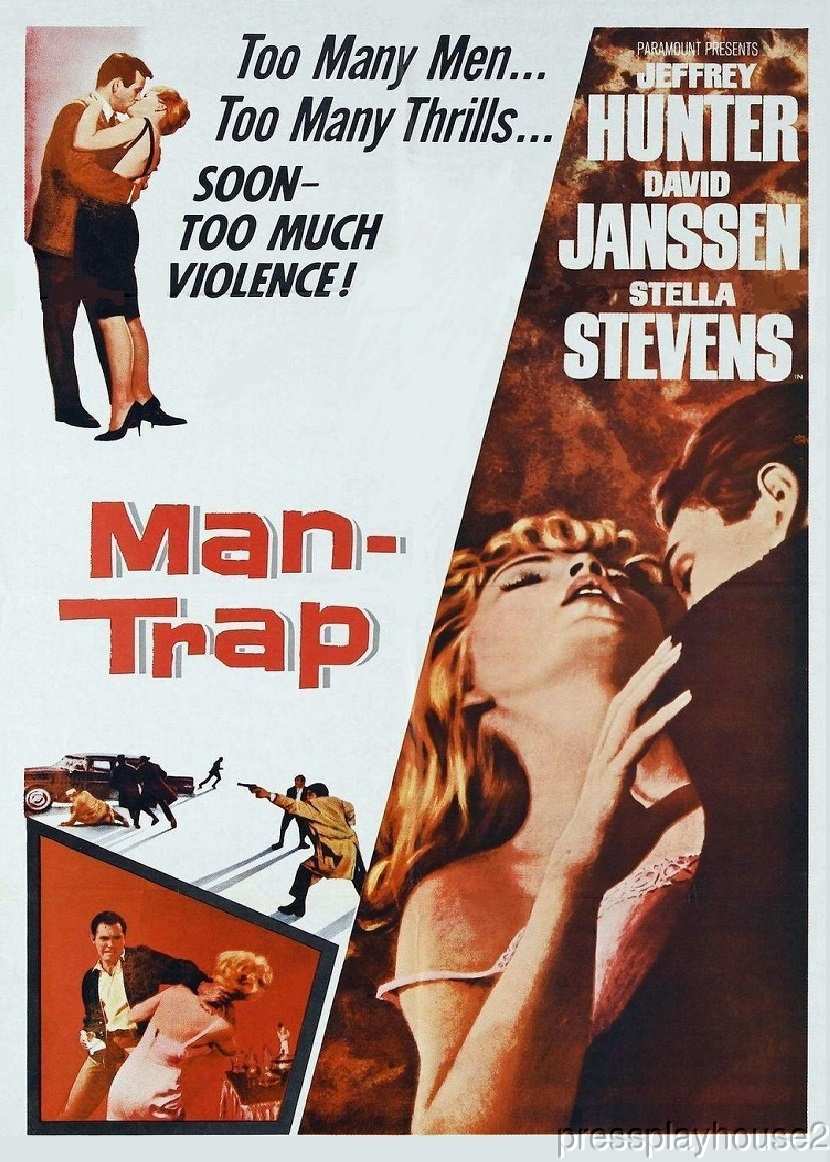 Man, Trap: DVD, 1961, David Janssen, Stella Stevens, Jeffrey Hunter product photo
