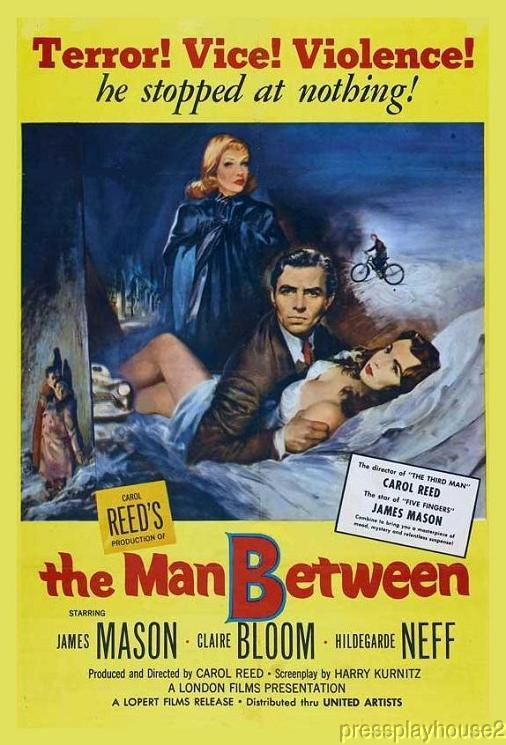 The Man Between: DVD, 1953, James Mason, Claire Bloom, UK Thriller product photo