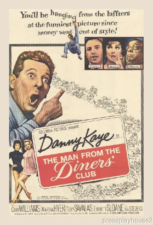 The Man From The Diners' Club: DVD, 1963, Danny Kaye, Cara Williams, Telly Savalas, George Kennedy, Everett Sloan, Rare Classic, Widescreen product photo