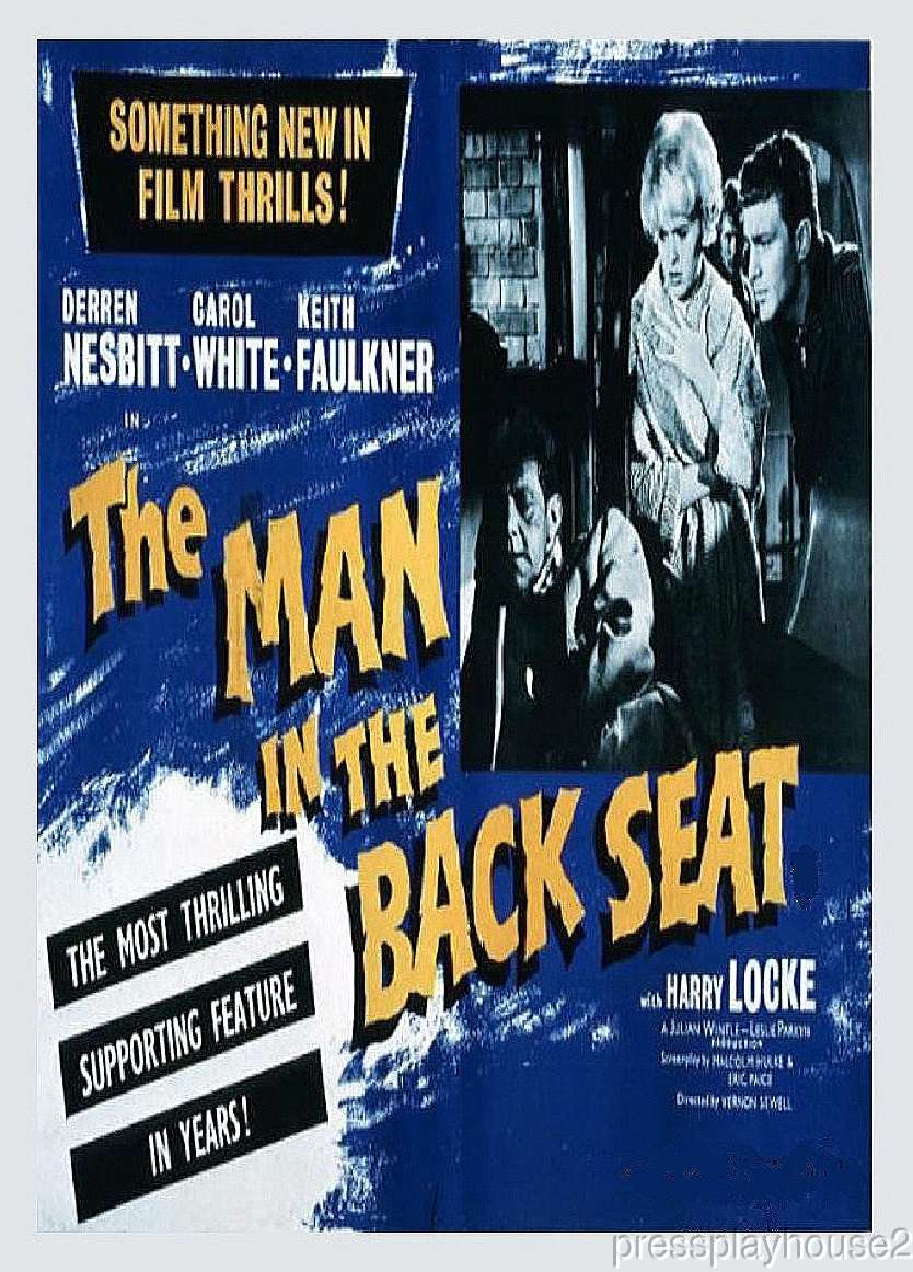 The Man In The Back Seat: DVD, 1961, Rare UK Crime Thriller, Widescreen product photo