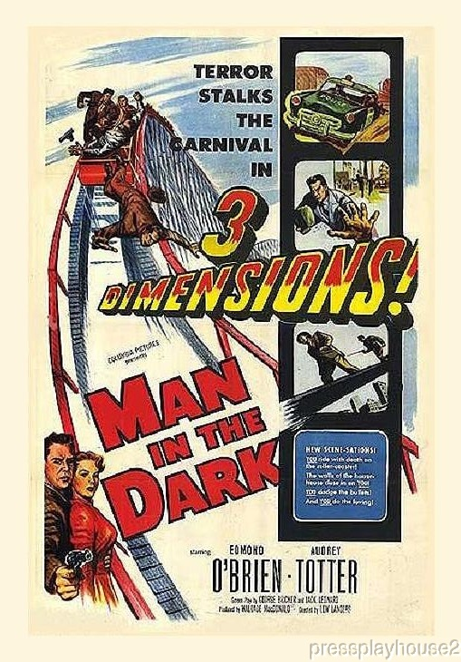 Man In The Dark: DVD, 1953, Edmond O'Brien, Audrey Totter, Rarely Seen Noir Action Thriller product photo