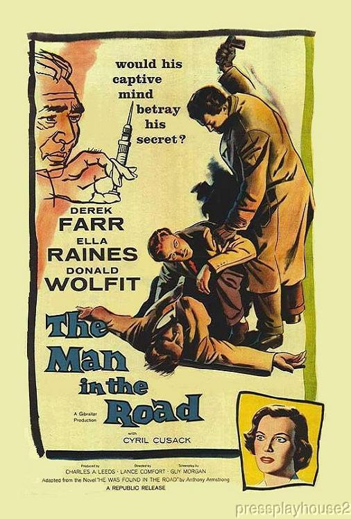 The Man In The Road: DVD, 1956, Derek Farr, Cyril Cusack, UK Crime Thriller product photo