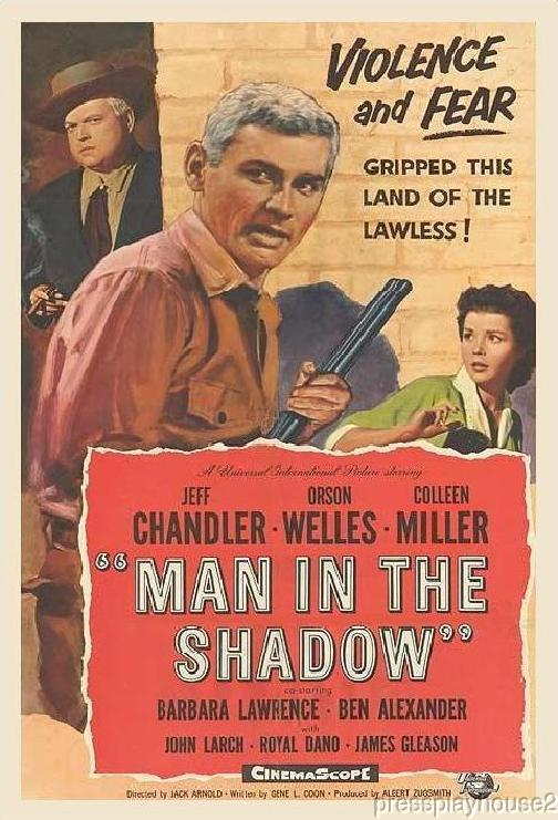The Man In The Shadow: DVD, 1957, Jeff Chandler, Orson Welles, Colleen Miller product photo